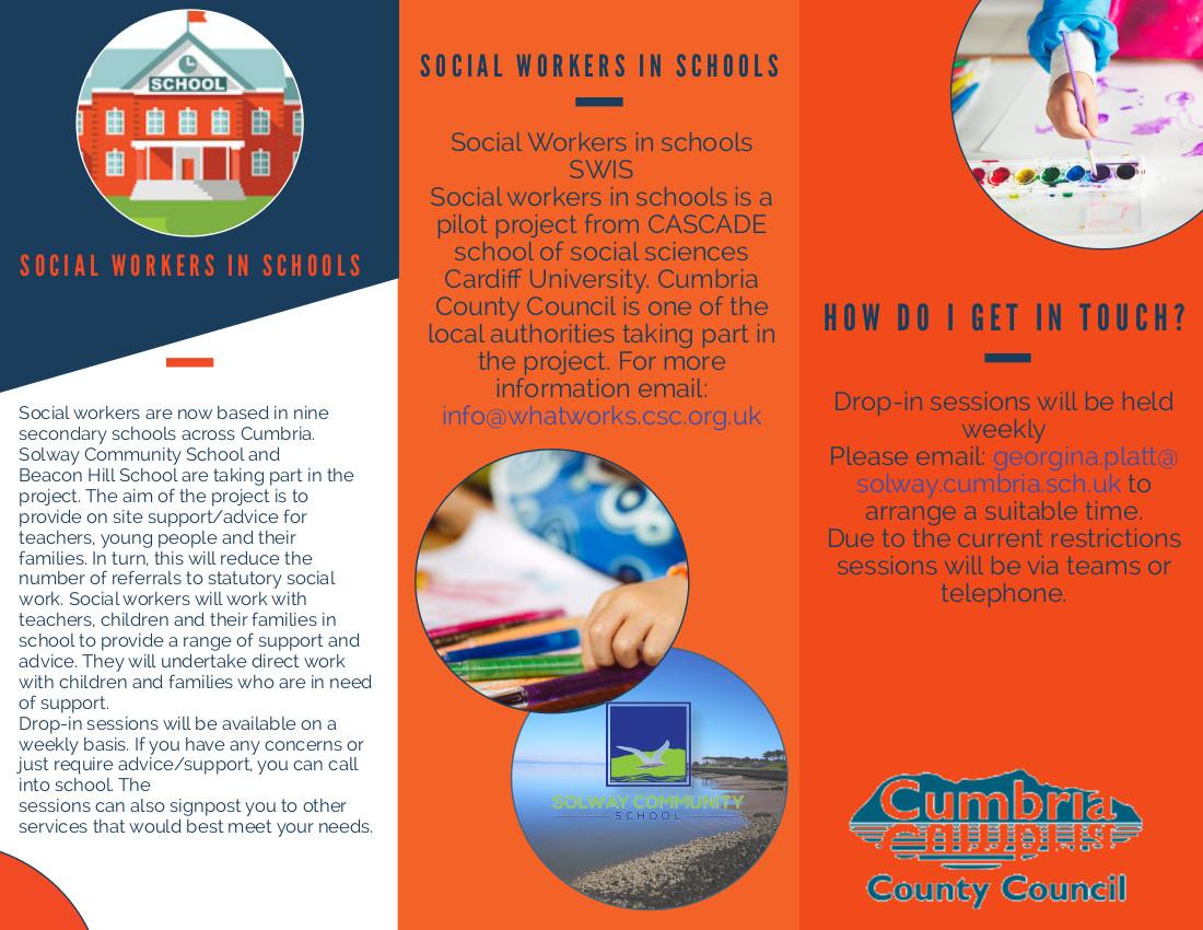 Social workers in school leaflet